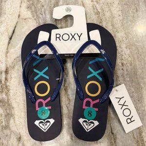 Roxy rubber flip flop NWT